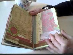 flip through - love this journal with vintage soft colors