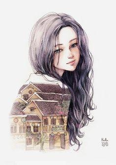 人物插画 by 画师nhienan