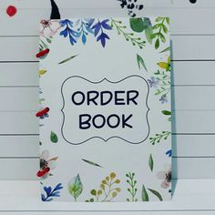 Order Book with Custom Design on Cover Order Book, Custom Design, Cover, Books, Libros, Book, Book Illustrations, Libri