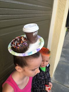 Dunkin donuts hair for crazy hair day