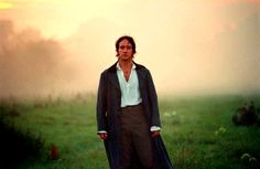"""""""Your Hands Are Cold""""  Matthew Macfadyen (Mr. Darcy) has very poor eyesight. In the misty morning shot, the director, Joe Wright, was behind the camera waving a red flag so Macfadyen knew where to walk."""