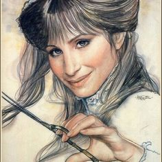 Barbra Streisand, illustrated by Richard Amsel, one of the best illustrators who ever lived!
