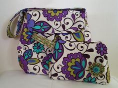 Wristlet zippered pouch by juliemarieshop on Etsy, $18.00