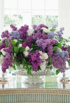 Lilac centerpiece.  Gorgeous