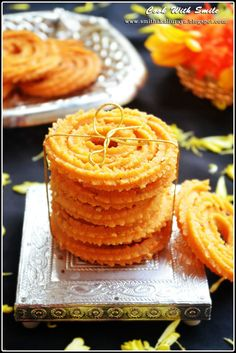 Super crispy so easy to make I'm sure even a beginner will have no fuss making chaklis with this recipe on hand. Diwali Special Recipes, Ramadan Recipes, Sweets Recipes, Snack Recipes, Cooking Recipes, Easy Recipes, Indian Desserts, Indian Snacks, Indian Dishes