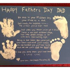 Handprint | Fathers Day Cards for Kids to Make | DIY Birthday Cards for Men