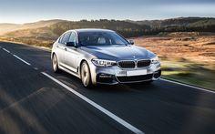 Download wallpapers BMW 5-serie, G30, 2018 cars, 4k, road, german cars, BMW