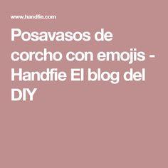 Posavasos de corcho con emojis - Handfie El blog del DIY