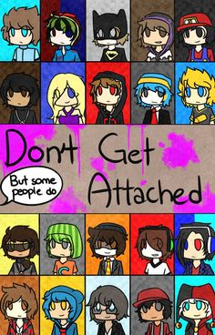 Don't Get Attached | Dangan Ronpa/MC YouTuber AU by CaeruliaAutumnale on deviantART