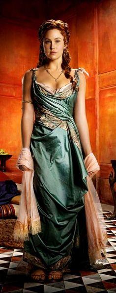 "Anna Hutchison as Laeta in ""Spartacus"" (Roman) Anna Hutchison, Historical Costume, Historical Clothing, Spartacus Women, Spartacus Series, Roman Dress, Toga Party, Roman Fashion, Komplette Outfits"