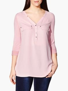 Long Sleeve Nursing Blouse available at #ThymeMaternity