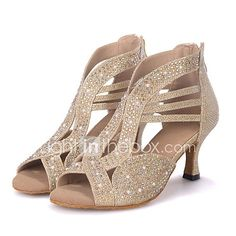 Women's Dance Shoes Latin Leatherette Flared Heel Customizable Baile Latino, Salsa Shoes, Latin Dance Shoes, Dancing Shoes, Sparkle Shoes, Frauen In High Heels, Clearance Shoes, Luxury Shoes, Leather