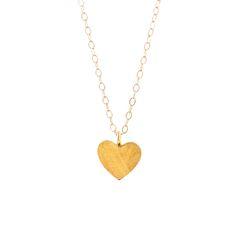 Gold heart necklace #goldenheart