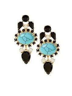Sabine Turquoise Earring   Piperlime