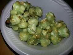 Troll boogie popcorn balls Harry potter.    Add extra marshmallow and green food coloring.