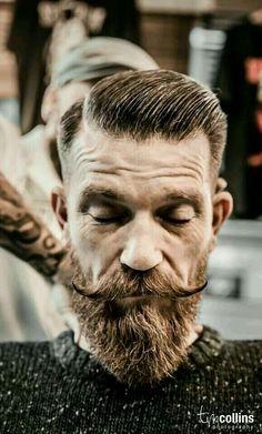 Great hair, beard and moustache. Beard Game, Epic Beard, Great Beards, Awesome Beards, Bart Tattoo, Hair And Beard Styles, Hair Styles, Beard Haircut, Vintage Hair