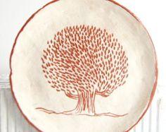 Set de tres platos de Tapas hechas a mano placa por susansimonini
