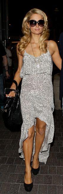 Paris Hilton wearing Tom Ford's Alicia sunglasses.
