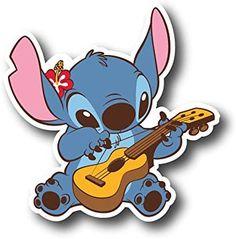 Stickers Kawaii, Cute Laptop Stickers, Cartoon Stickers, Tumblr Stickers, Cool Stickers, Printable Stickers, Guitar Stickers, Disney Stitch, Lilo Y Stitch