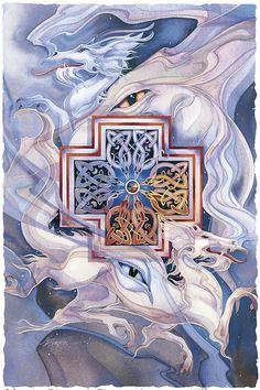 Bergsma Gallery Press::Paintings::Fantasy::Mythological Creatures::Cross the Dragon - Prints