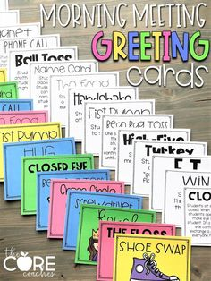 36 Creative Greetings for Morning Meetings