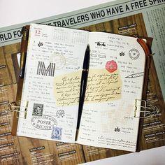 #travelersnotebook #midori #midoritravelersnotebook #travelersnote #planner #weekly #travelerscompany #journal #maskingtape #washitape #classiky #diary #트래블러스노트 #vintagestamp #tokyoantique #다이어리  춥다. 이번주 계속 바쁘게 밖으로 돌아다녀 금요일은 좀 집에서 쉬어야지 했는데... 또 나가야되네. 외근직이 소망이였는데.. 소원 이뤘네.... /눈물/