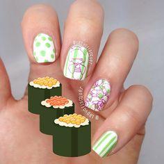 Nail Art Japanese, Wasabi Hint, Nail Stamping using Bundle Monster 2014 CYO plate range over Ulta3 Lily White and Loreal Wasabi hint by @LadyOfLacquer