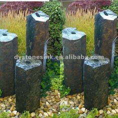 #natural stone water features, #outdoor fountain, #stone water features