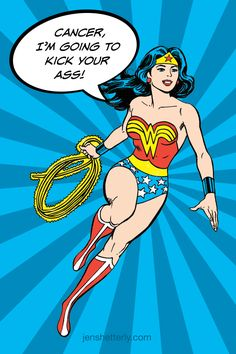 Even Wonder Woman gets breast cancer. The story of my diagnosis at jenshetterly.com.