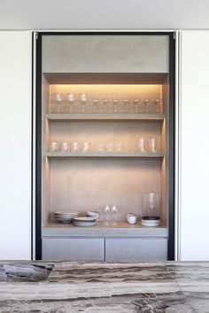 Image 51 of 72 from gallery of Residence VDB / Govaert & Vanhoutte Architects. Photograph by Tim Van De Velde French Home Decor, Unique Home Decor, Cheap Home Decor, Joinery Details, Kitchen Cupboard Doors, Tadelakt, Wine Cabinets, Living Room Remodel, Küchen Design