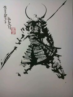 I sincerely am into the hues, outlines, and detail. This is a terrific choice if you want a Samurai Girl, Oni Samurai, Samurai Warrior, Samurai Helmet, Samurai Drawing, Samurai Artwork, Samurai Tattoo, Japanese Illustration, Illustration Art