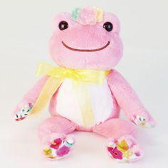 Pickles the Frog Plush Keychain Hawaii Hibiscus Mocha Brown Japan