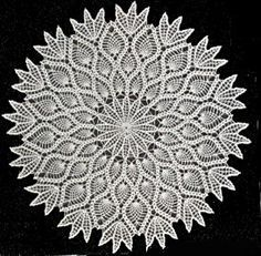 original pinner m(not me..lol) finished an umbrella crocheted with this Large Pineapple Doily Pattern