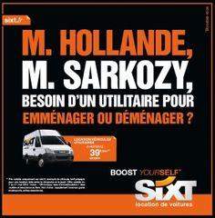 M.Hollande, M.Sarkozy, besoin d'un utilitaire pour emménager ou déménager ?