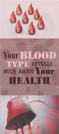 Your Blood Type Reveals Much About Your Health