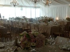 A snapshot of the tent before the ceremony. The afternoon light was so pretty.