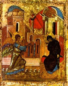 Byzantine Icons :: Holy Virgin Mary :: The Annunciation