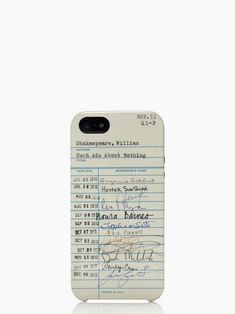Kate Spade library card resin iphone 5 case #SummerReads #PenguinTeen