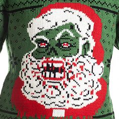 Forget about the milk and cookies because Santa will be craving something different this year, and the Zombie Santa Claus Christmas Pullover Sweater gives you an idea of what will happen to the boys and girls on the Naughty list.  It&