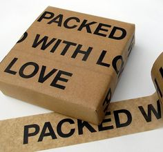 Fancy - Packed with Love Sticky Paper Tape