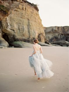 Photo by When He Found Her, Featured on Wedding Sparrow, Coastal Wedding, Colored Wedding Dress, Blue Wedding Dress, Claire La Faye Wedding Dresses