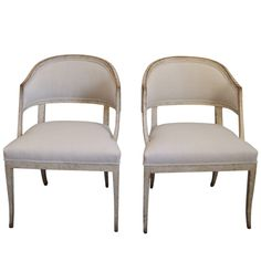 1stdibs - Pair of Swedish Barrel Back Chairs explore items from 1,700  global dealers at 1stdibs.com