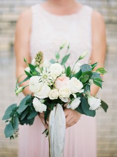Earthy spring blooms: Photography : Loft Photography Read More on SMP: http://www.stylemepretty.com/2016/04/11/wedding-with-earthy-floral-greenery/