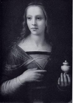 Lucrezia Borgia with a bottle of poison