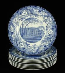 Lot of ten Wedgwood plates depicting historic Harvard buildings, April 26th Estate Auction | Kaminski Auctions
