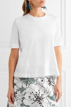Marni - Asymmetric Cotton T-shirt - White - IT38