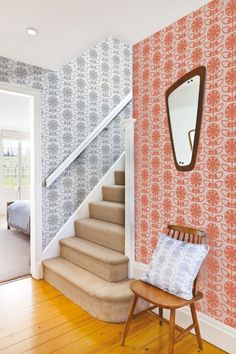 Vertigo Inducing Wallpaper Vintage Snapshot 1950\u2019s Home Decor Interior Design Photo Vintage Wallpaper Dining Room
