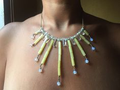 IF POSEIDON CALLS... - Jade, Fluorite, Quartz and Opal necklace for the nymph…