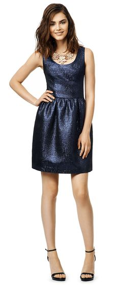 Pretty blue shimmer dress for parties and weddings by Shoshanna