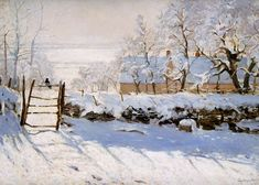 The Magpie, 1869, Claude Monet Size: 130x89 cm
